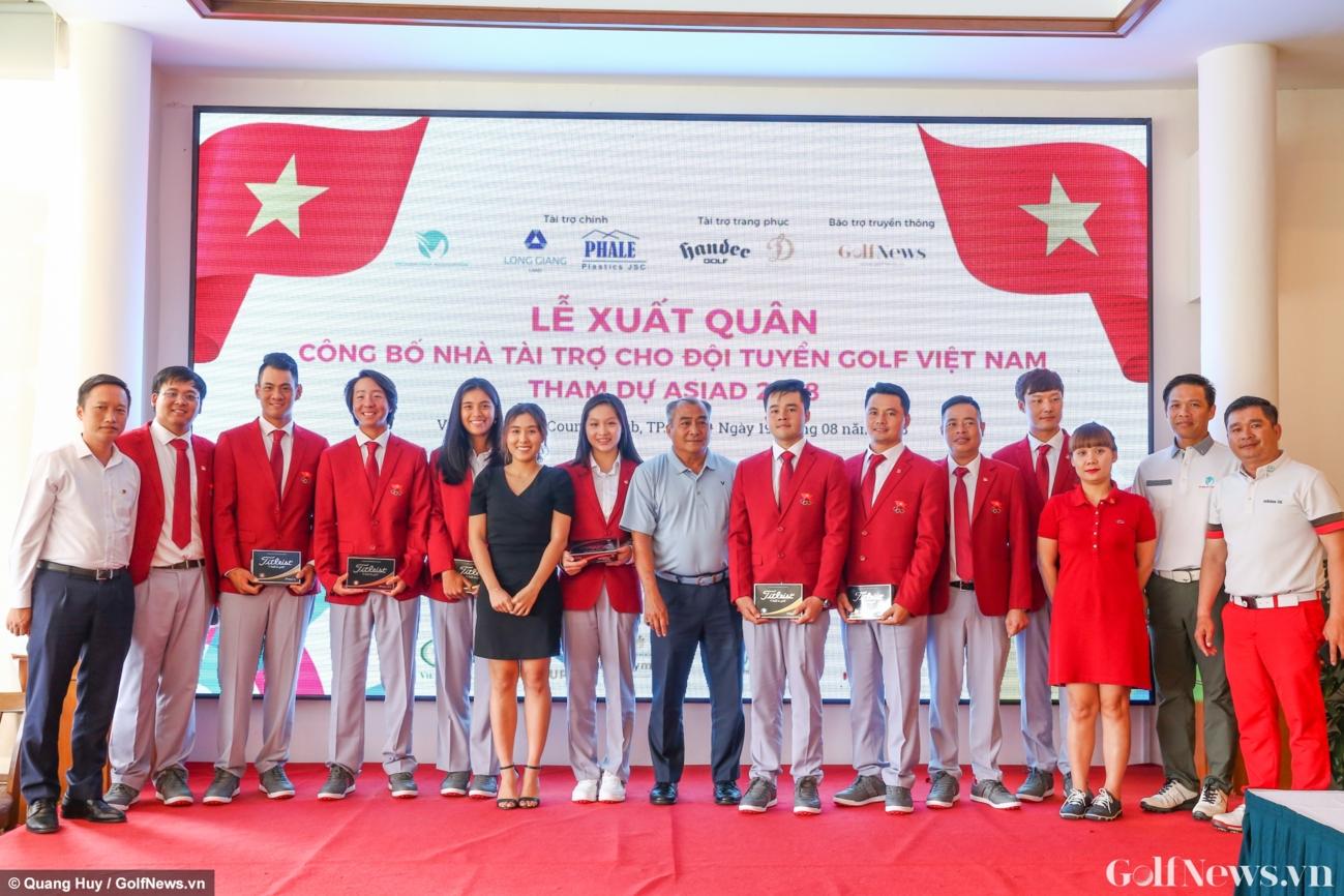 Lễ xuất quân ASIAD 18 của tuyển golf Việt Nam